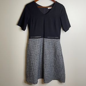 Ricki's black and grey colorblock tweed fit and flare dress with pockets 6